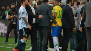 Row after Brazil v Argentina conflict cut short minutes after opening shot