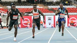 """The 2004 Olympic hero Justin Gatlin put retirement on pause notwithstanding agreeing to third in Saturday's season-shutting 100m at the World Athletics mainland visit meet in Nairobi. The 39-year-old American, who has twice been restricted for doping, neglected to meet all requirements during the current year's Tokyo Games and was wanting to offer reparations in Kenya. However, he was unable to coordinate with individual American Trayvon Bromell and the new Kenyan run sensation Ferdinand Omanyala in the completion. """"I came from a physical issue with the desire for getting a success here,"""" said Gatlin, adding he will go on vacation to choose his future. """"Ideally we should keep a watch out what's available for the new season,"""" he added when inquired as to whether he intended to hang up his spikes. Bromell, who previously had the world's quickest 100m clinched for the current year, bettered his own imprint with a 9.76 while Omanyala returned 9.77, the time Bromell had run in April. For large numbers of the competitors contending, Nairobi was a peak to a tedious season which incorporated the Olympics and the Diamond League after various occasions were dropped in 2020 due to the Covid pandemic. Namibian run sensation Christine Mboma conquered four bogus begins to win her seventh 200m race since Tokyo where she had to change to the more limited distance subsequent to being controlled ineligible to contend in the 400m because of expanded degrees of testosterone. After a lethargic beginning, the Olympic silver medallist moved forward a stuff in the 50 meters to breeze past Ivorian Marie Josee and to guarantee triumph in 22.40. Mboma said she actually needs to consummate her procedure to turn out to be more serious. """"I'm not amazing yet in the 200m,"""" said Mboma. """"I'm actually working at it and desire to be acceptable in the following year."""" American Fred Kerley won the men's 200m in an individual best 19.76, driving second-set Isaac Makwala of Botswana (20.06) to make the pa"""