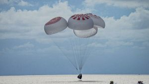 SpaceX all-non military personnel group securely sprinkles down following three-day trip into Earth circle
