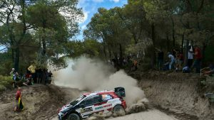 Rovanpera drives Acropolis Rally after extreme day in the rock